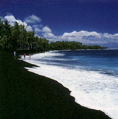black sand island black sand beaches in hawaii let s go somewhere