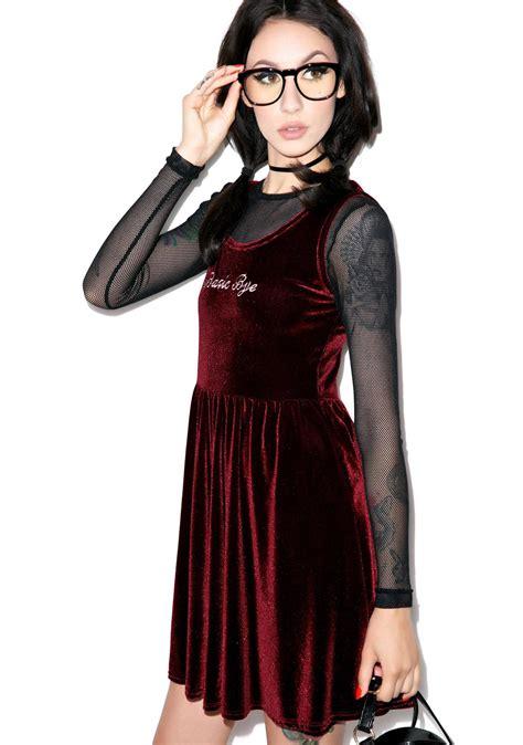 Dress Velvet Basic Bludru Diskon united couture basic bye velvet dress dolls kill