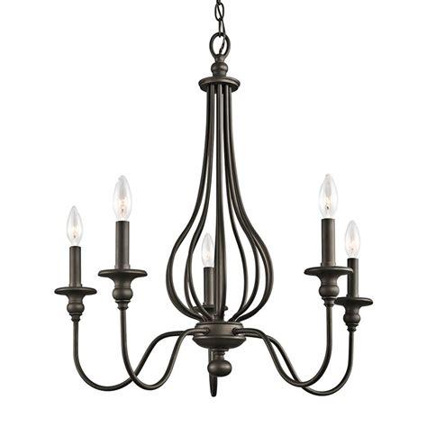kichler 5 light chandelier shop kichler kensington 25 in 5 light olde bronze wrought