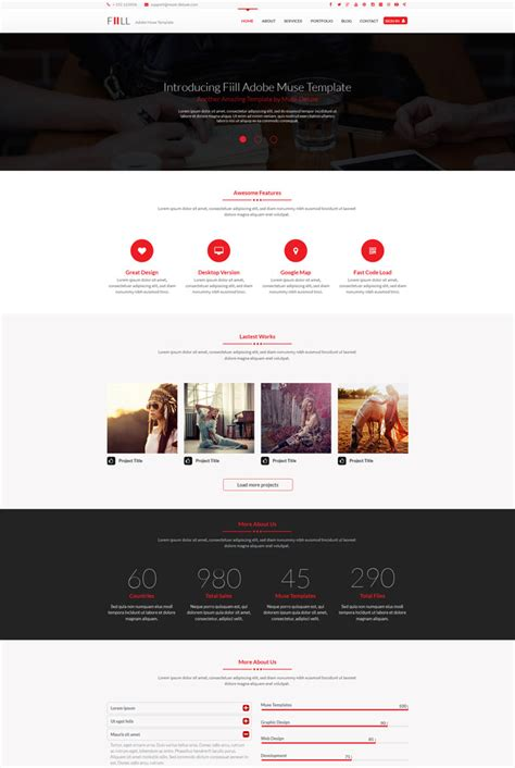 20 Most Wanted Corporate Muse Web Templates Muse Website Templates