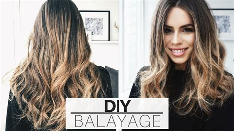 diy balayage or ombre at home brown hairs