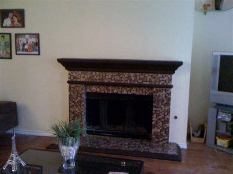 Glass Mosaic Fireplace Surround by Mosaic Tile Fireplace Photos