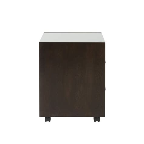 Mobile Lateral File Cabinet Eurostyle Ballard Gls Top 2 Drawer Lateral Mobile Wood Wenge Filing Cabinet Ebay