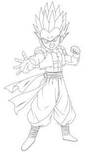 Gotenks Coloring Pages gotenks lineart by raykugen on deviantart