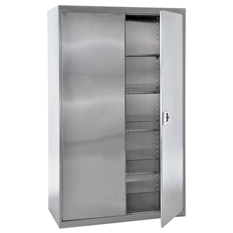 stainless steel storage cabinets shop edsal 48 in w x 78 in h x 24 in d steel freestanding