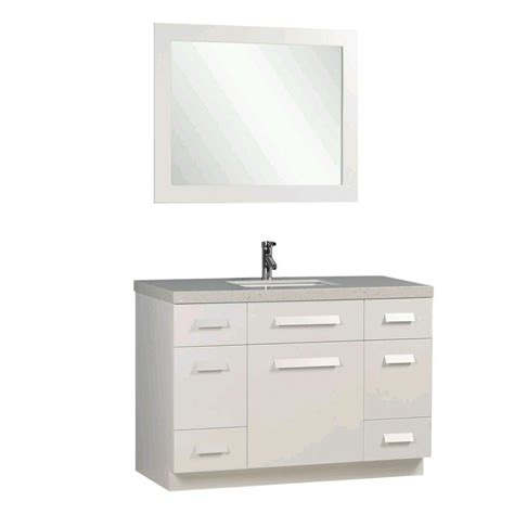 design elements moscony design element moscony 48 in w x 22 in d vanity in white