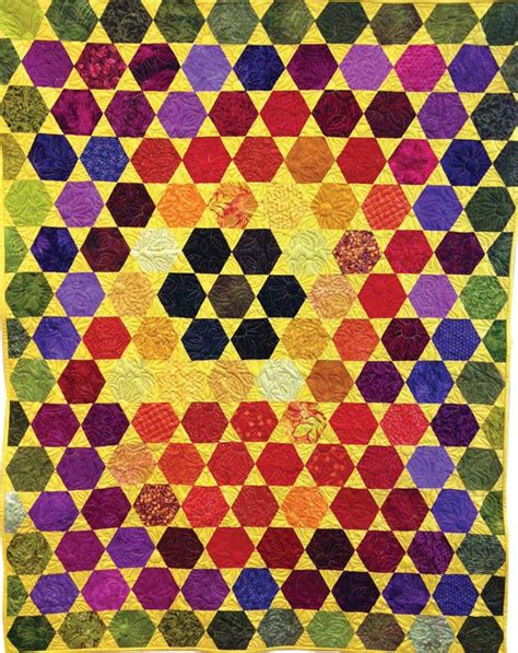 yellow hexagon pattern block 329 best images about hexagon quilts and patterns on