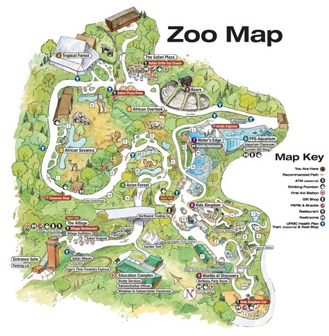 map of oregon zoo pittsburgh zoo map