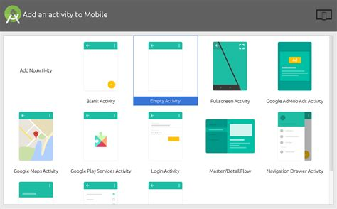 android studio add new layout android studio add an activity to mobile material design