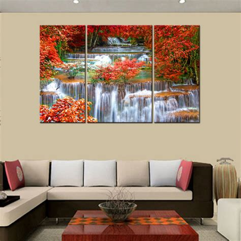 home decor waterfalls hd canvas prints home decor wall art painting mangrove