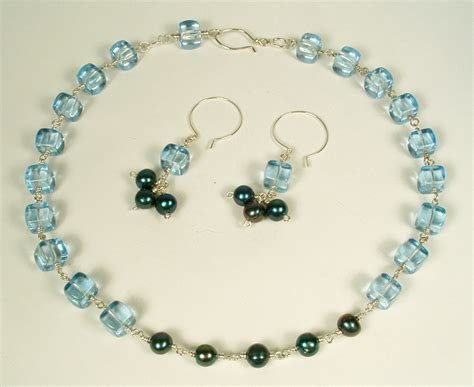how to make pearl jewelry finishing projects blue cube and pearl necklace and