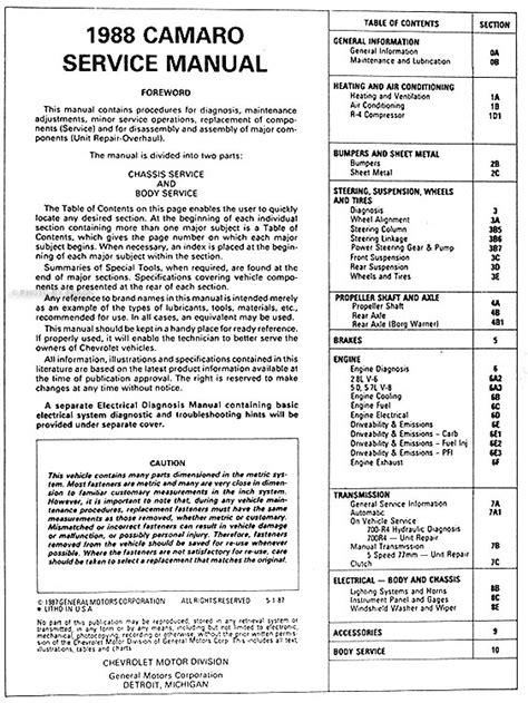 free download parts manuals 1980 chevrolet camaro transmission control 2010 camaro repair manual kryptos global