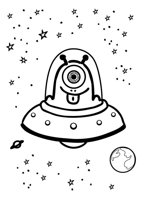 space monster coloring page space ufo alien coloring pages coloring books thynedfgt