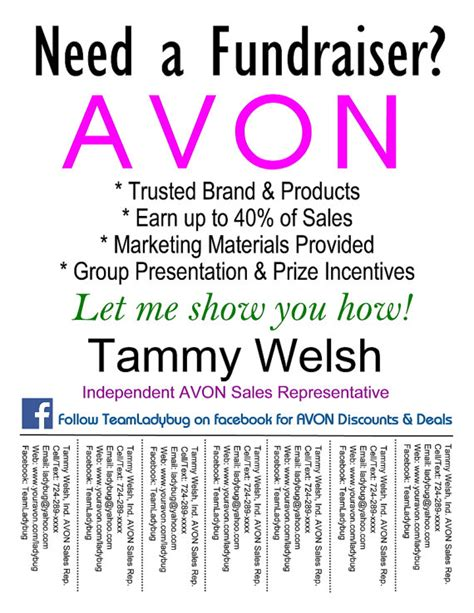 avon flyer template diy custom avon fundraiser bulletin board flyer colorful