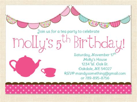 5th Birthday Invitation Card Template by Free S 5th Birthday Invitations