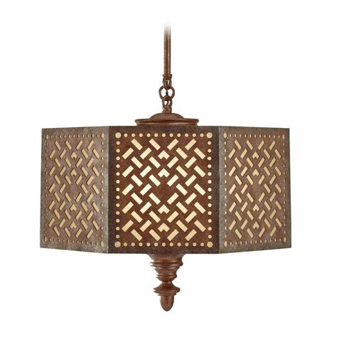 Moroccan Pendant Light Pendant Light In Moroccan Bronze Finish F2905 3mob Destination Lighting