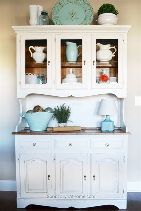 Base Kitchen Cabinets by Roadkill Redo Painted Hutch Sondra Lyn At Home