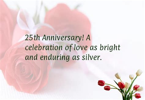 Silver Wedding Anniversary Quotes For by 25th Wedding Anniversary Cards