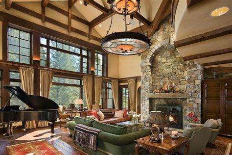 timber frame great room lighting slifer designs teton heritage builders