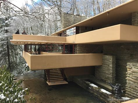 house over water visiting fallingwater sweet pea