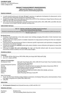 Best Resume Format For Net Developer by Sample Resume For Net Developer With 2 Year Experience