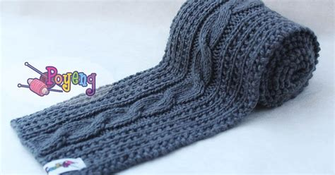 sentence with knit knitting with ajeng rajut free knitting pattern cable scarf