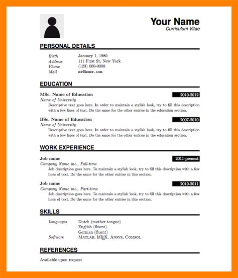 Freshers Resume Sles In Word Format Resume Format For Freshers Word File 28 Images Resume Templates Freshers Resume Format 2016