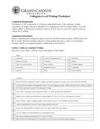 College Level Essay Writing by Unv 103 Week 5 College Level Writing Worksheet