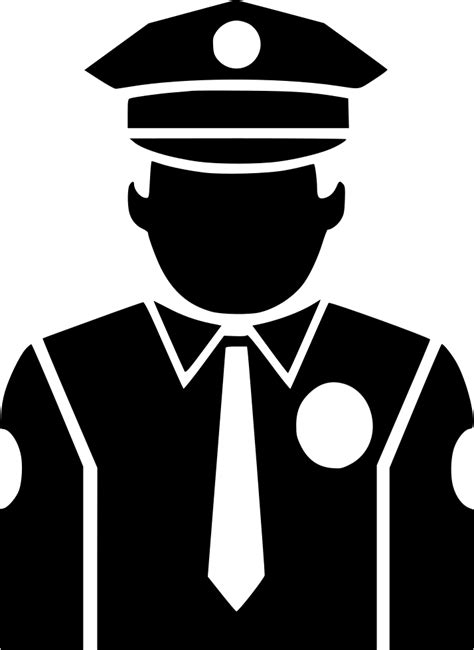 police officer svg png icon