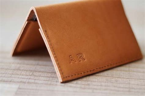 The Handmade Card Company - the handmade leather business card is customizable