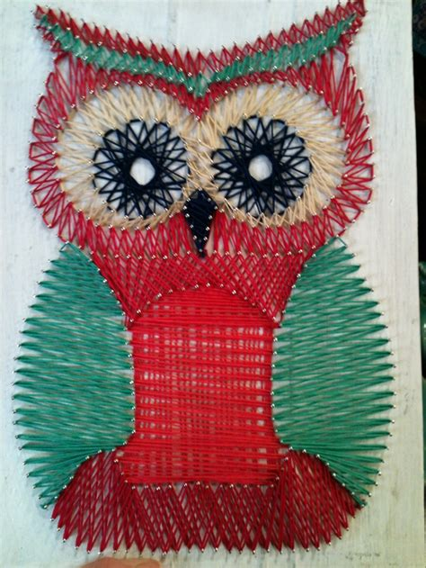 string art pattern owl owl string art at earthbound crafty pinterest string