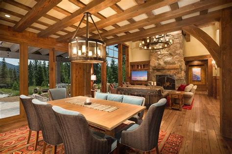 mountain solace martis c rustic dining room