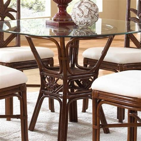 palm wicker indoor dining by panama family