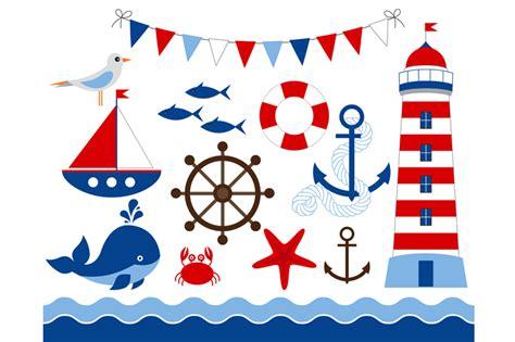 the open boat lighthouse symbol digital nautical clip art illustrations on creative market