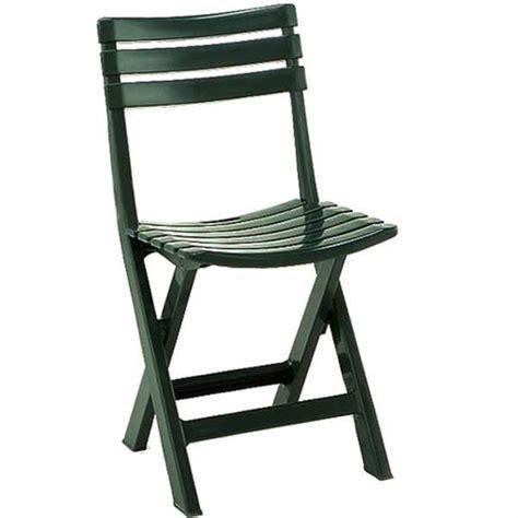 sedie da giardino pieghevoli sedia da giardino pieghevole verde in resina riciclabile