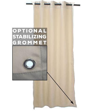 sunbrella outdoor drapes sale regency sand sunbrella grommeted outdoor curtain on sale