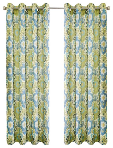 ellis curtains ellis curtain tuscany 50 quot x84 quot lined grommet panel blue