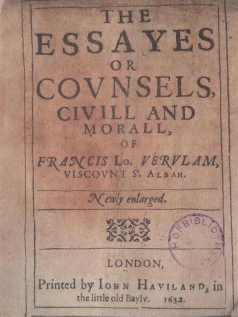 Francis Bacon Essays Sparknotes by Milton Vs Francis Bacon Sue Brewton S
