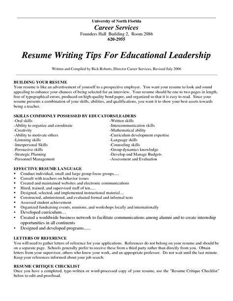 successful resume writing exles of resumes resume layout word sle in format