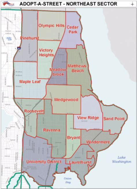 seattle map laurelhurst about northeast seattle northeast seattle