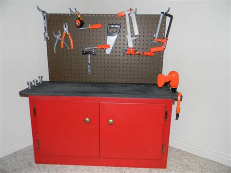 boys wooden tool bench undone diy toddler workbench practicing pinterest