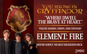 Hogwarts House Quiz Pottermore by Gryffindor Which Hogwarts House Do You Belong In Zimbio
