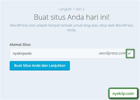 membuat akun wordpress com langkah langkah membuat akun wordpress septianingrum