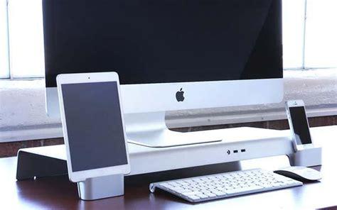 Iforte Uniti Stand Desk Organizer For Imac And Apple Imac Standing Desk