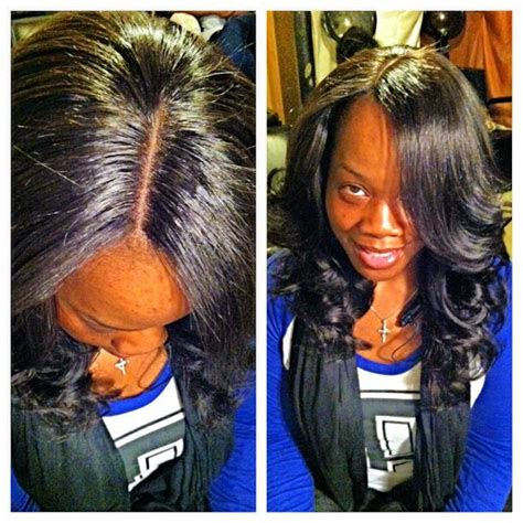 no part weave hairstyles full head lace closure sew in weave no hair left out no