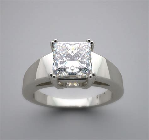 contemporary setting bold contemporary princess shape diamond ring setting or