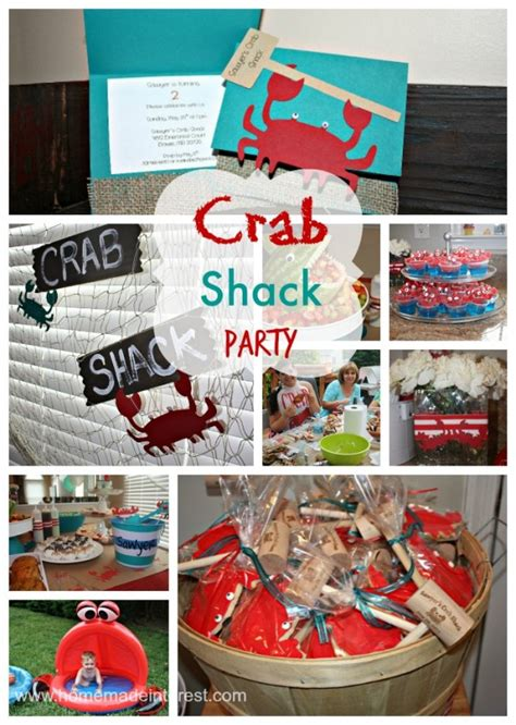 crab decorations for home crab shack birthday party home made interest