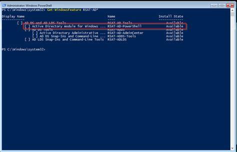 install active directory powershell module  windows