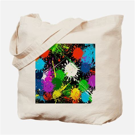 paint splatter bags totes personalized paint splatter