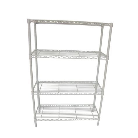 Shop Style Selections 54 In H X 36 In W X 14 In D 4 Tier Freestanding Shelving Unit